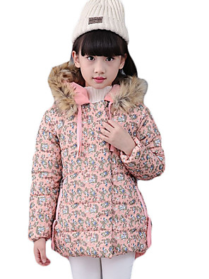 Girl's Going out / Casual/Daily Print Down & Cotton Padded,Cotton Winter Orange