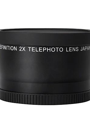 52mm 2.0x teleobjektív Nikon D90 D80 D700 D3000 D3100 D3200 D5000 D5100 d5200 18-55mm DSLR fényképezőgépek