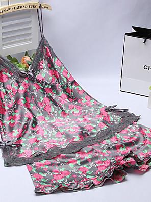 אישה אולטרה סקסי Nightwear-סקסית אחיד-דק ויסקוזה אפור / שחור נשים