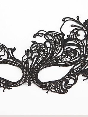 Máscara Fantasias Festival/Celebração Trajes da Noite das Bruxas Preto Cor Única / Rendas Máscara Dia Das Bruxas Unisexo