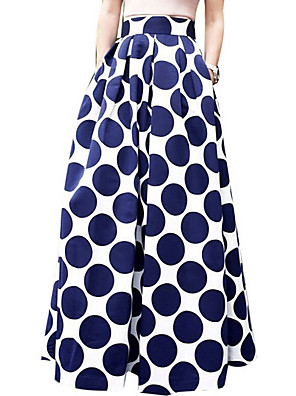 Damen Röcke - Sexy / Einfach / Street Schick Maxi Polyester Unelastisch