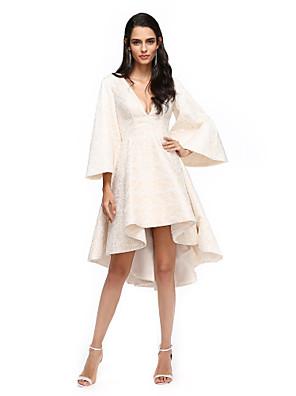 2017 ts couture® coquetel vestir A linha V-neck lace assimétrico com