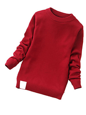 Boy's Casual/Daily Solid Sweater & CardiganCashmere / Wool Winter / Spring / Fall Black / Green / Red / Beige / Gray