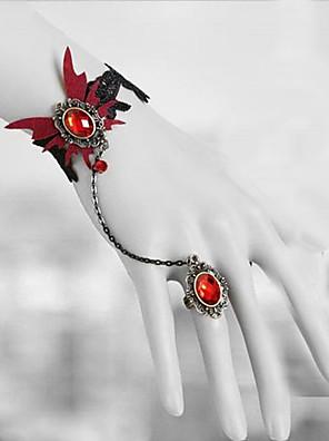 תכשיטים לוליטה גותי לוליטה לוליטה אדום לוליטה אביזרים אביזר לשיער / שרשרת / צמיד / עגיל תחרה ל גברים / נשים תחרה