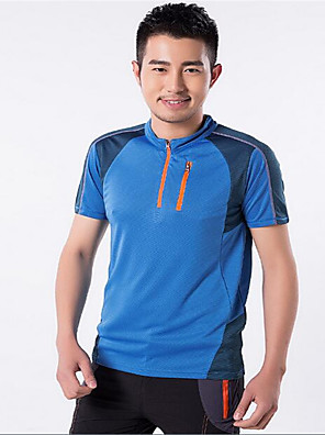 Homens Camiseta / Blusas Exercicio e Fitness / Corridas / Esportes RelaxantesRespirável / Secagem Rápida / A Prova de Vento / Resistente
