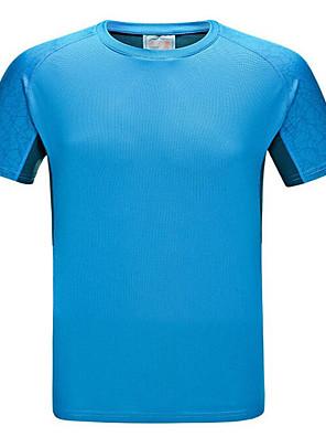Pánské Trička / Vrchní část oděvu Fitness / Dostihy / Volnočasové sportyProdyšné / Rychleschnoucí / Větruvzdorné / Odolný vůči UV záření