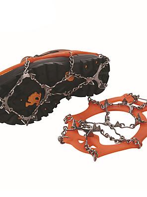 tizenkét fogak Rozsdamentes acél hegesztése csúszásgátló cipő hüvely hágóvas / hó kültéri tizenkét fogazott hágóvas