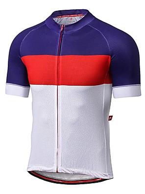 Sportovní Pánské Krátké rukávy Jezdit na koleProdyšné / Rychleschnoucí / Odolný vůči UV záření / Proti záření / Nositelný / Antistatický