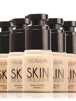 1 Foundation Våd / Mineral KhakiFugt / Solbeskyttelse / Blegende / Olie kontrol / Længerevarende / Concealer / Ujævn hud / Naturlig /
