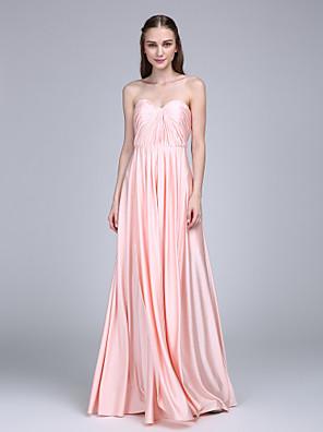 2017 Lanting vestido longo bride® camisa da dama de honra bainha / querida coluna com cruz criss