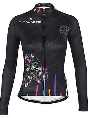 PALADIN® חולצת ג'רסי לרכיבה לנשים שרוול ארוך אופנייםעמיד למים / נושם / שמור על חום הגוף / עמיד / בטנת פליז / מבודד / דחיסה / רצועות