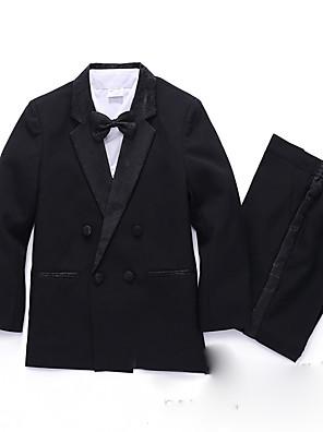 תערובת פוליאסטר / כותנה חליפה לנושא הטבעת  - 5 חתיכות כולל חולצה / וסט / עניבת פרפר