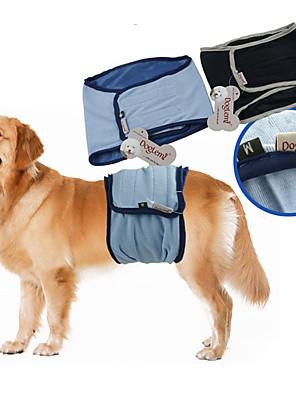 Cães Calças Azul / Preto Roupas para Cães Verão / Primavera/Outono Cor Única Casual