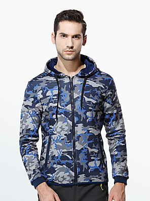 Men's Casual/Daily / Sports Active / Cute Hoodie Jacket,Solid / Print V Neck Fleece Lining Micro-elastic Cotton Long Sleeve Fall / Winter