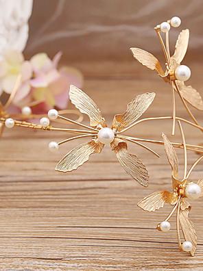Véus de Noiva Uma Camada Peça para Cabeça com Véu Organza