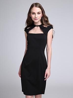 Lanting Bride® Ke kolenům Úplet Šaty pro družičky - Pouzdrové Klenot s