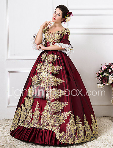a5f5601529bd Rococo Victorian 18th Century Costume Women's Dress Party Costume  Masquerade Ball Gown Red Vintage Cosplay Lace