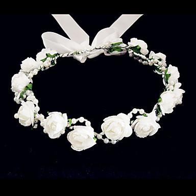 Women's Flower Girl's Foam Headpiece-Wedding Special Occasion Casual Flowers