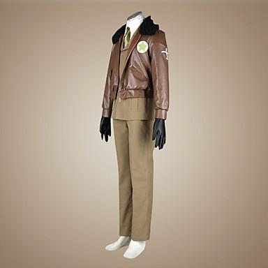 Buy Inspired Hetalia America Alfred F Jones Anime Cosplay Costumes Suits Solid Brown Long SleeveCloak / Coat Shirt Pants Tie