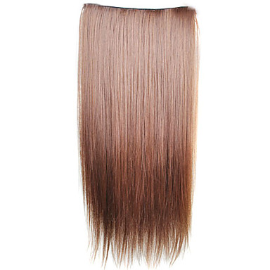 Clip in Synthetic Straight Hair Extensions with 5 Clips - 6 Colors Available