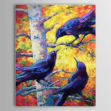 Hand Painted Oil Painting Animal Bird 1304-AN0091