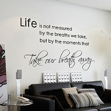 Life isn 39 t about waiting for the storm to pass wall - Stickers muraux salon ...