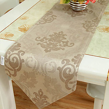 Imitation Leather Floral Light Coffee Table Runner 684986 2016