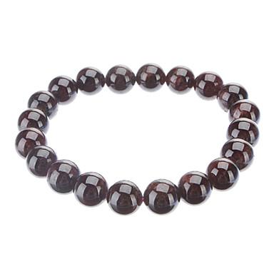 10mm Round Garnet Gemstone Elastic Bracelet