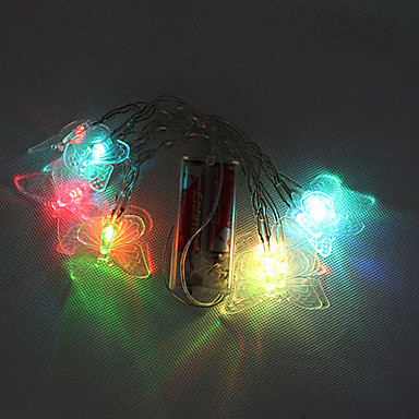 10 Led Battery Powered Color Changing String Fairy Lights For Christmas Party(Cis-57113) 743230 ...