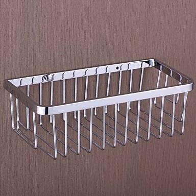 Buy Bathroom Shelf Chrome Wall Mounted 250 x 120 80 mm (9.84 4.72 3.14 inch) Brass Contemporary