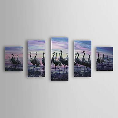 Hand Painted Oil Painting Animal with Stretched Frame Set of 5 1309-AN1010