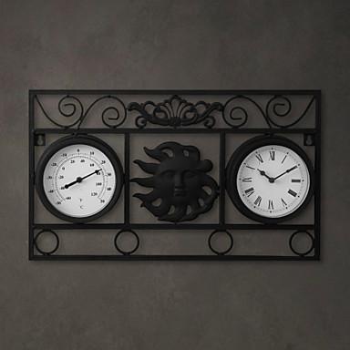 20 h artistique m tal double cadran horloge murale de 737654 2017 - Horloge double cadran ...