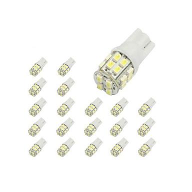 10 x T10 20-SMD 1210 White LED Car Lights Bulb 194 168 2825 W5W