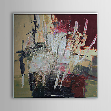 Abstract Boiling Milk Shake Framed Oil Painting