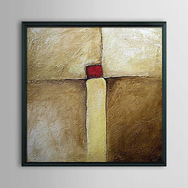Abstract Squeeze Framed Oil Painting
