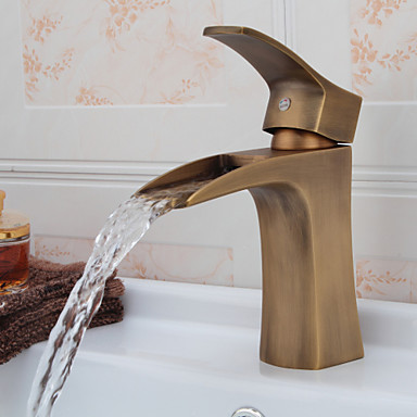 Ottone antico bagno rubinetto cascata lavello del 874079 2016 a - Rubinetto bagno cascata ...