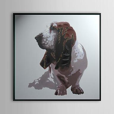Basset Hound Animal Framed Oil Painting