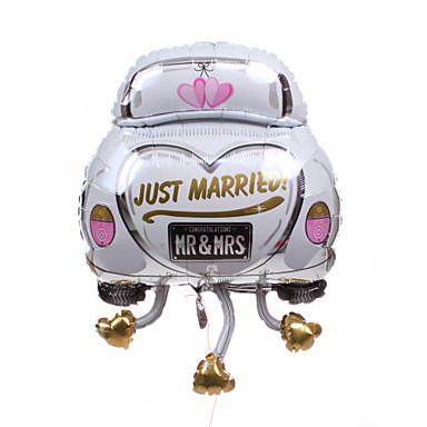 Wedding d cor car metallic balloon just married 910111 for Just married dekoration