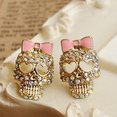 (1 Pair) Vintage Golden Alloy Stud Earrings(Golden)