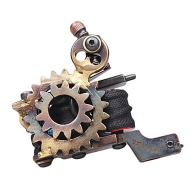 wheel gear design cast iron dual coils tattoo machine gun 870167 2016. Black Bedroom Furniture Sets. Home Design Ideas