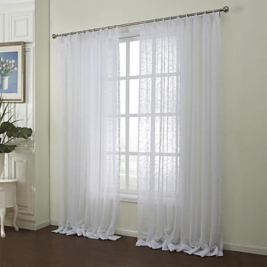deux panneaux le traitement de fen tre rustique chambre coucher m lange poly coton mat riel. Black Bedroom Furniture Sets. Home Design Ideas