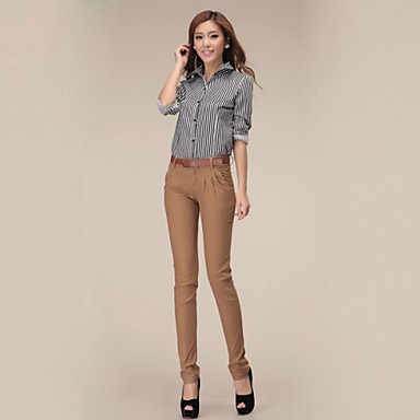 Women's Skinny Jeans Pants Mid Rise Cotton Micro-elastic All Seasons