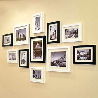 Contemporary gallery collage picture frames set of 11 for Modern collage frame