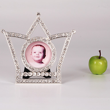 """3""""H Modern Style Crown Metal Picture Frame"""