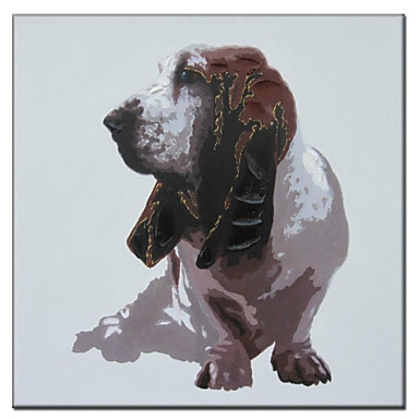 Hand Painted Oil Painting Animal Pop Art Puppy