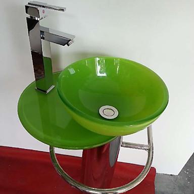 tondo colorato moderno in vetro temperato Vessel lavello ...