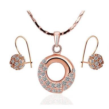 Buy Women's 8K Rose Gold Diamond Ring (Necklace&Earrings) Jewelry Sets