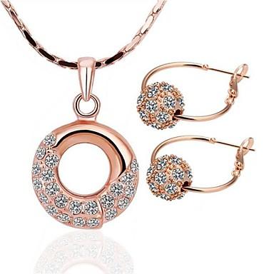 Buy Women's 18K Rose Gold (Necklace&Earrings) Jewelry Sets