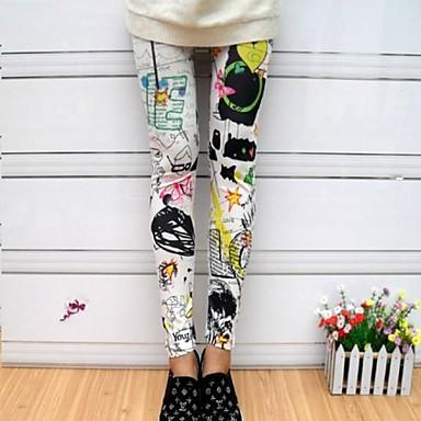 Multi-color Graffiti Printing Fashion Leggings 2 Color
