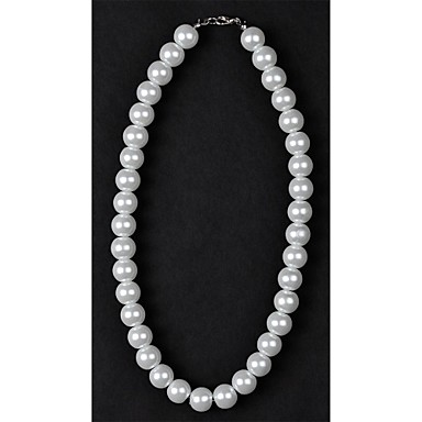 1PC Classic 12mm White Pearl Necklace